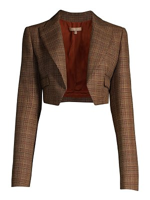 Michael Kors Collection spencer cropped plaid wool jacket