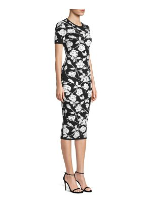 Michael Kors Collection stencil rose jacquard sheath dress