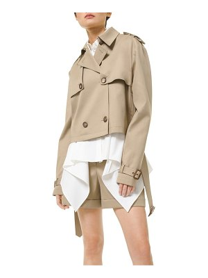 Michael Kors Collection stretch-cotton cropped trench coat