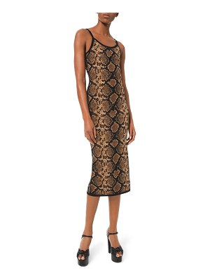 Michael Kors Collection Stretch Metallic Python Slip Dress