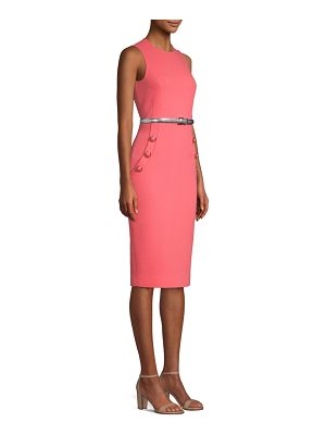 Michael Kors Collection belted stretch wool sheath dress