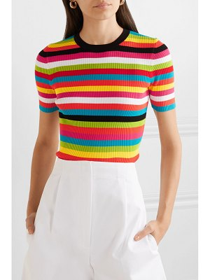 Michael Kors Collection striped ribbed-knit top