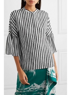 Michael Kors Collection striped silk-crepe blouse