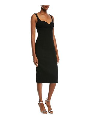 Michael Kors Collection Sweetheart-Neck Stretch-Boucle Sheath Cocktail Dress