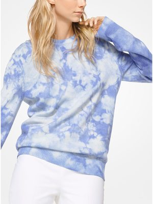 Michael Kors Collection Tie-Dye Cashmere Pullover