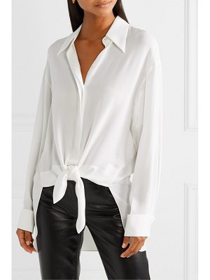 Michael Kors Collection tie-front silk-georgette shirt