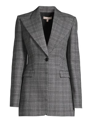 Michael Kors Collection tuxedo plaid wool blazer