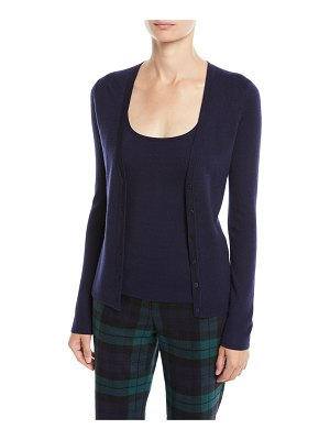Michael Kors Collection V-Neck Button-Front Cashmere Cardigan
