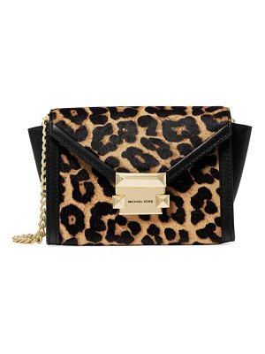 Michael Kors Collection whitney leopard-print calf hair & leather bag
