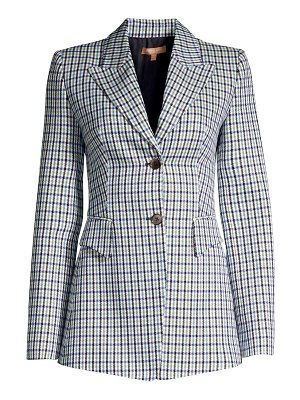 Michael Kors Collection wool-blend plaid blazer