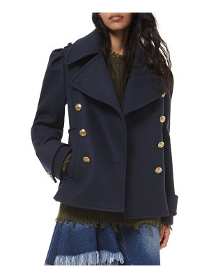 Michael Kors Collection Wool Military Pea Coat