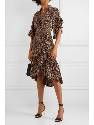 Michael Kors Collection wrap-effect leopard-print silk crepe de chine dress