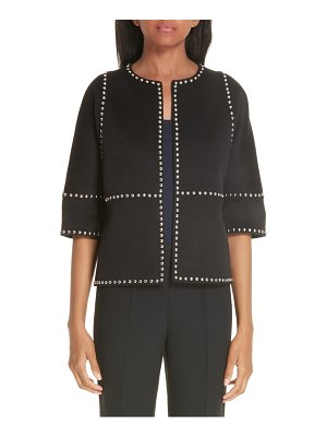 Michael Kors cookie studded wool & cashgora jacket