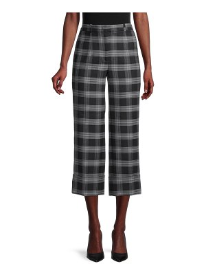 Michael Kors Cropped Plaid Trousers