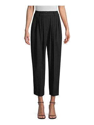 Michael Kors Collection Cropped Pleated Wool Trousers