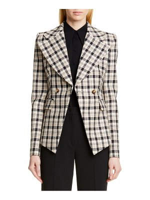 Michael Kors double breasted plaid blazer