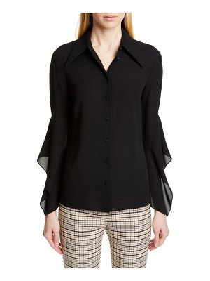 Michael Kors drape sleeve silk georgette shirt