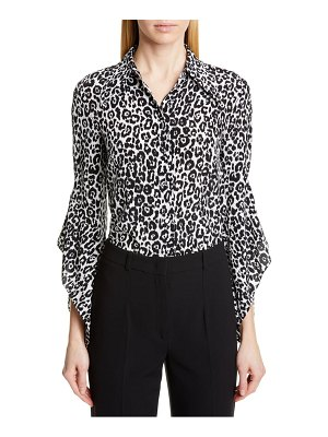Michael Kors drape sleeve silk shirt