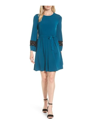 Michael Kors lace inset bell sleeve dress