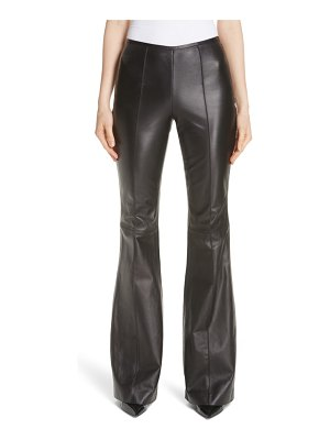 Michael Kors leather flare pants