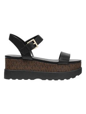 Michael Kors marlon logo leather flatform sandals