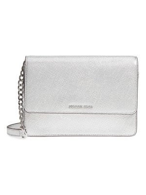 Michael Kors michael  large metallic leather crossbody bag