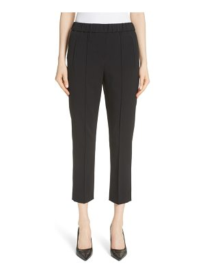 Michael Kors pintuck wool blend trousers