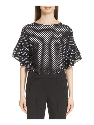 Michael Kors polka dot silk georgette blouse