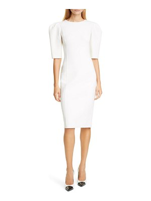 Michael Kors puff sleeve sheath dress