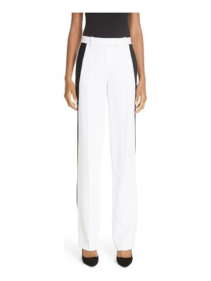 Michael Kors side stripe double crepe sable straight leg trousers