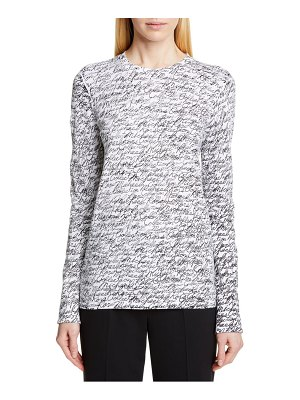 Michael Kors signature print long sleeve tee