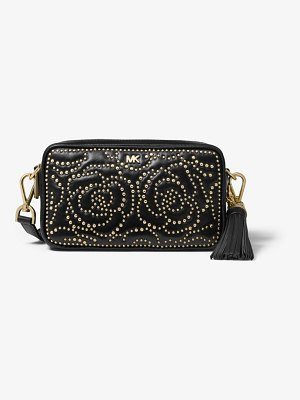 Michael Kors Small Rose Studded Leather Camera Bag