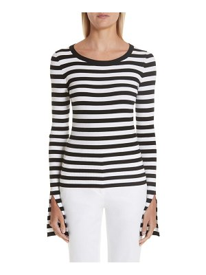 Michael Kors split sleeve stripe sweater