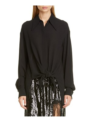 Michael Kors Collection tie front silk shirt