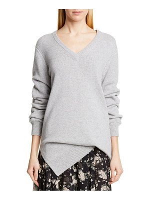 Michael Kors v-neck asymmetrical cashmere sweater