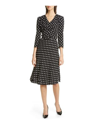 Michael Kors v-neck polka dot flared dress