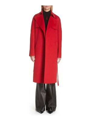 Michael Kors wool & angora blend belted coat