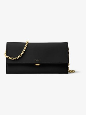 Michael Kors Yasmeen Large Calf Leather Clutch