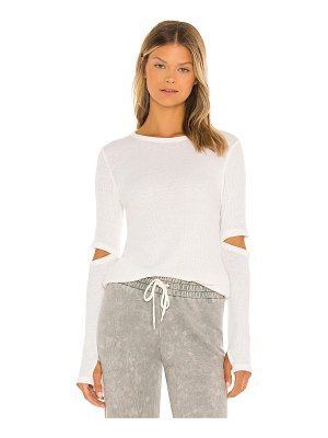 MICHAEL LAUREN solomon long sleeve fitted tee with elbow slits