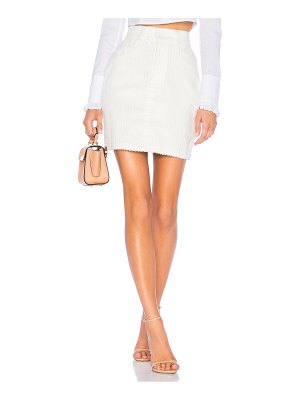 Michael Lo Sordo Corduroy Mini Skirt
