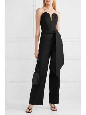 Michael Lo Sordo lover belted cady jumpsuit