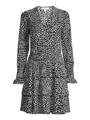 MICHAEL Michael Kors abstract animal-print dress