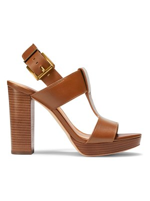 MICHAEL Michael Kors becker t-strap leather platform sandals
