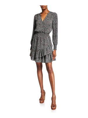 MICHAEL Michael Kors Boho Block Long-Sleeve Ruffle Dress