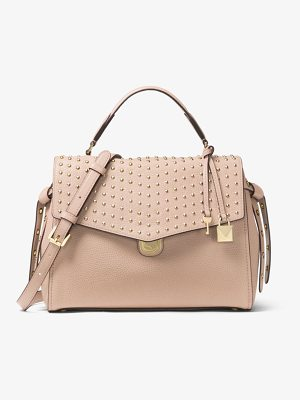 MICHAEL Michael Kors Bristol Medium Studded Leather Satchel