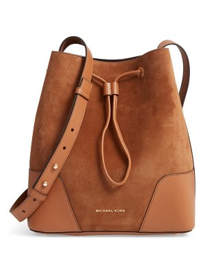 MICHAEL Michael Kors cary leather & suede bucket bag