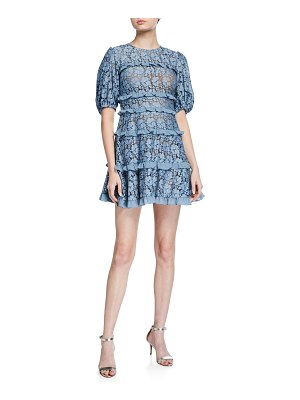 MICHAEL Michael Kors Cord Floral Lace Tiered Ruffle Dress