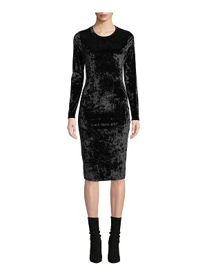 MICHAEL Michael Kors Crushed Velvet Long-Sleeve Dress