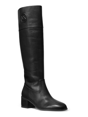 MICHAEL Michael Kors Dylyn Leather Zip Knee Boots