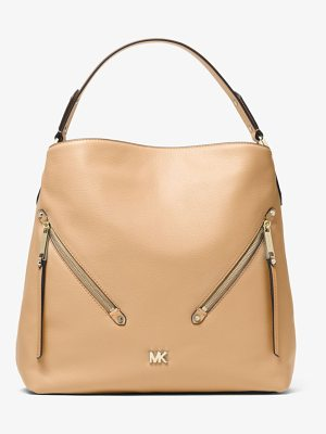 MICHAEL Michael Kors Evie Large Pebbled Leather Shoulder Bag